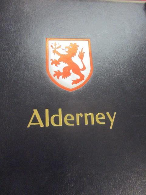 Lot 296 - A stamp album containing stamps of Alderney ranging from 1983-2009 in a Stanley Gibbons album