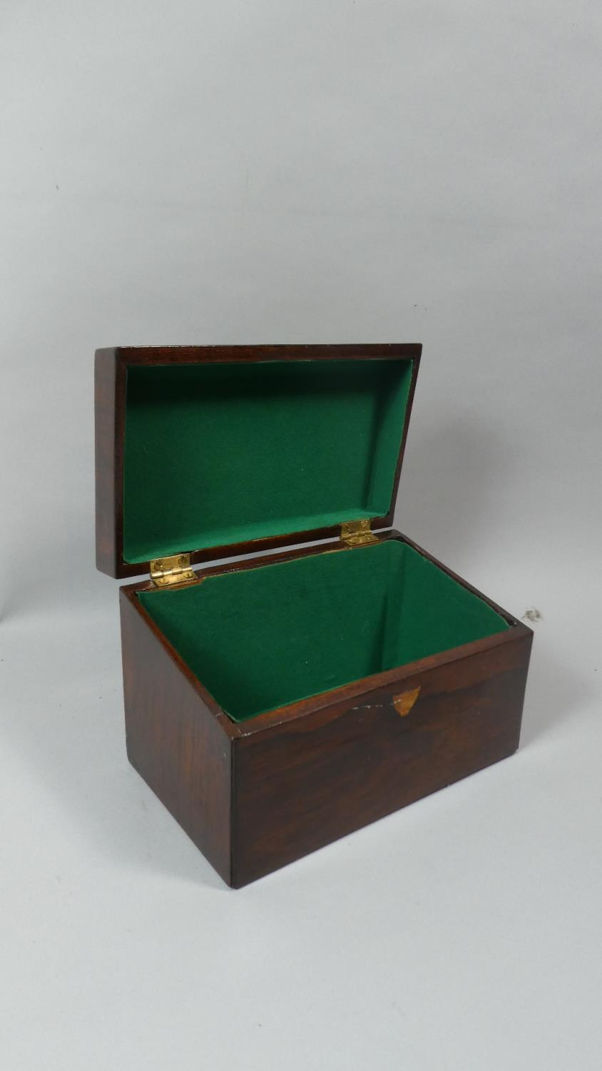 Lot 12 - A 19th Century Rosewood Envelope Box with Engraved Brass Escutcheon, 21cm Wide
