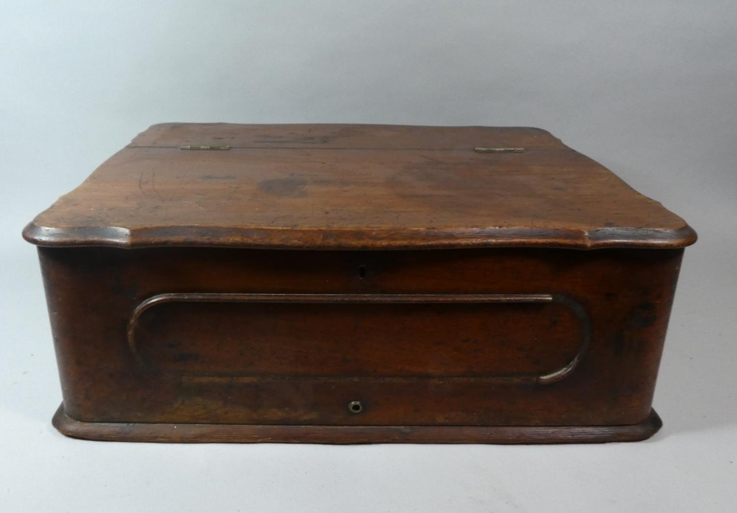 Lot 273 - A Late Victorian Mahogany Box with Hinged Lid, 56cm WIde
