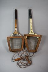 Lot 106 - Two Vintage Tennis Rackets and a Skipping Rope