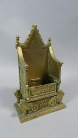 Lot 1 - A Novelty Brass Money Box in the Form of Coronation Throne Inscribed ER 1953, 20cm High
