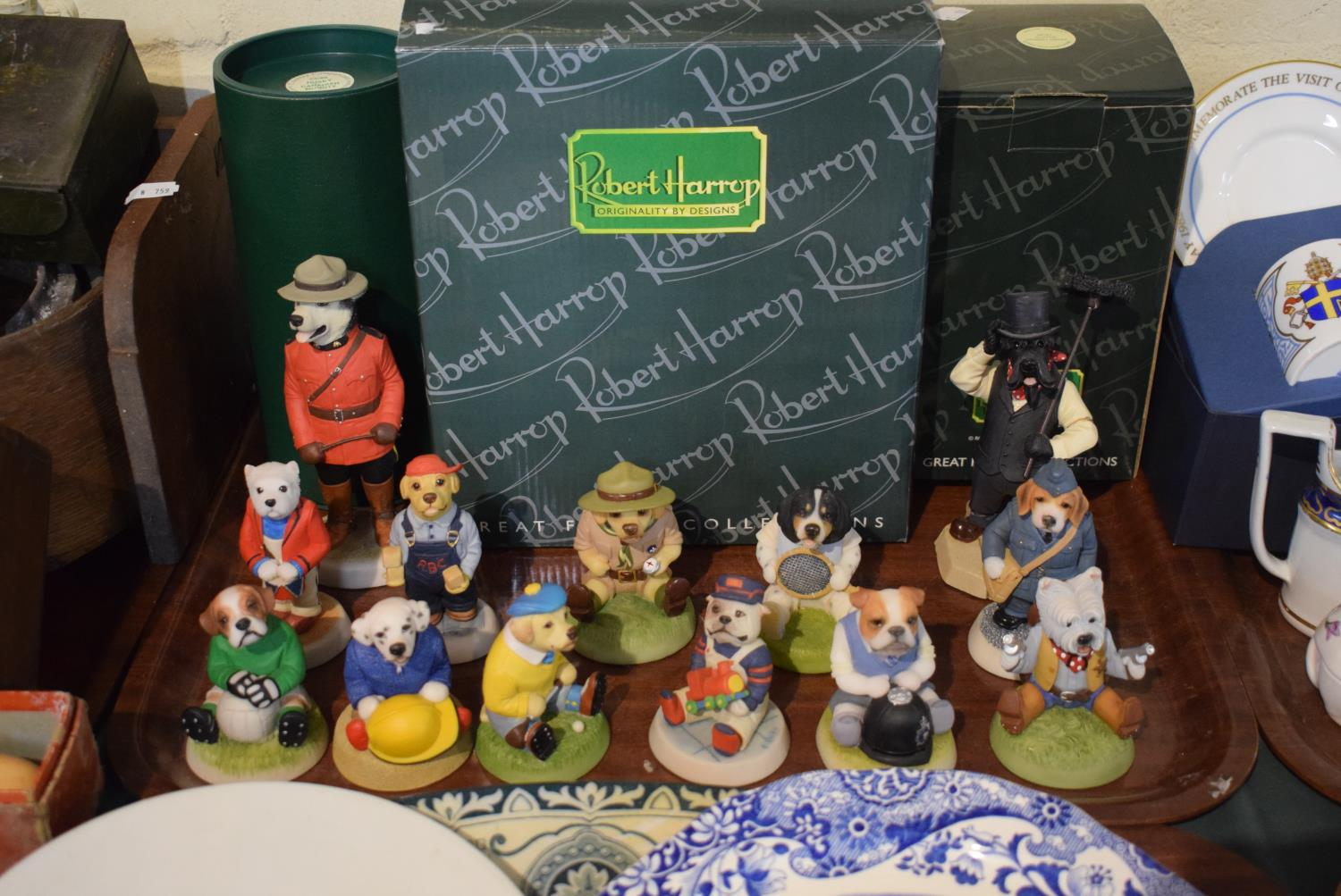 Lot 157 - A Collection of Thirteen Robert Harrop Country Companion Dog Figures (Two AF) Together with Three
