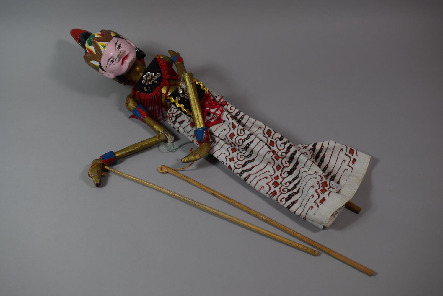 Lot 57 - A Carved Wooden Indian Puppet, 51cm High