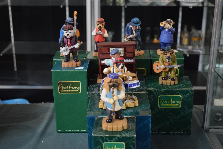 Lot 211 - A Full Set of Boxed Robert Harrop Crazy Dog Rag Time Band Figures