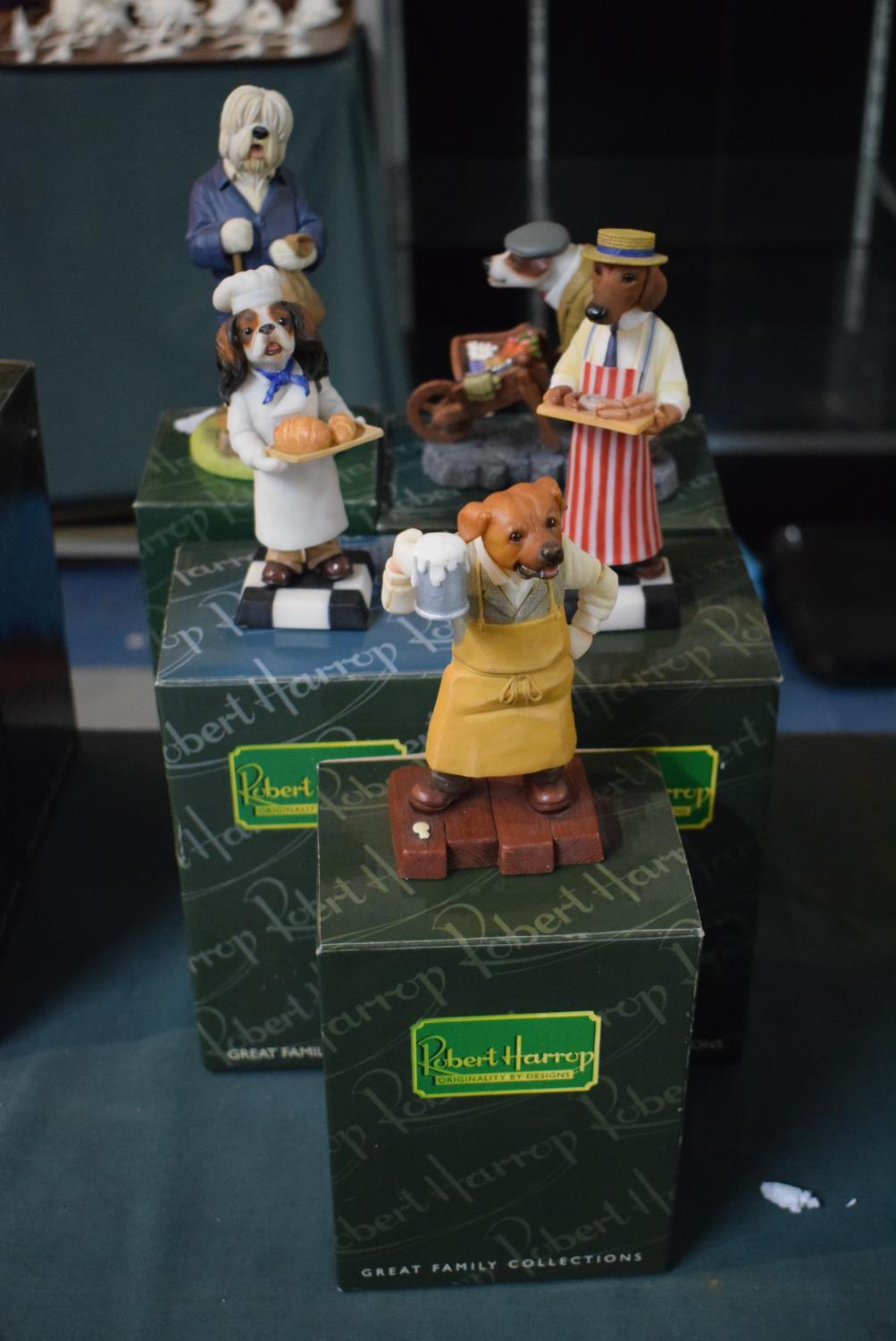 Lot 209 - A Collection of Five Boxed Robert Harrop Collectors Club Figures to Include Publican, Butcher,