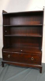 Lot 27 - A Stag Waterfall Book Case with Base Drawer, 74cm Wide