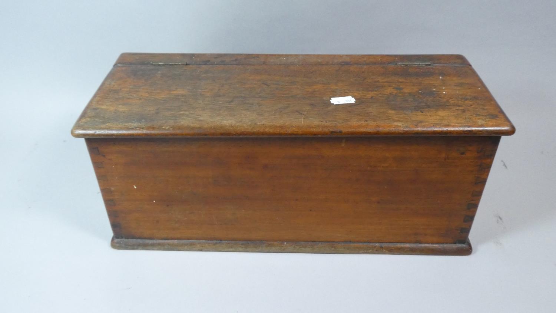 Lot 28 - A 19th Century Mahogany Box, Hinged Opening, 43cm Wide