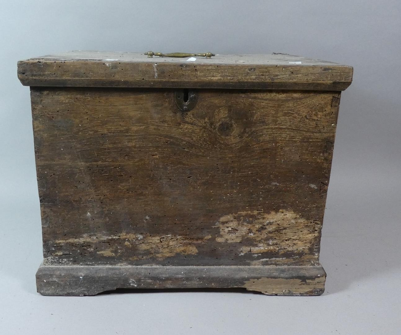 Lot 272 - A 19th Century Pine Work Box and a Later Example