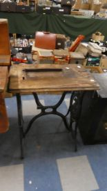 Lot 339 - A Cast Iron Singer Treadle Sewing Machine Table Frame, 64cm Wide