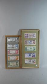 Lot 205 - Two Framed Collections of Five Bolivian Bank Notes