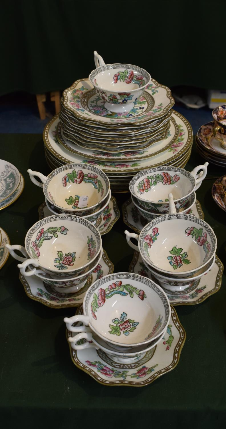 Lot 227 - A Collection of 19th Century and Later Coalport Indian Tree Tea and Dinnerwares to Include Six