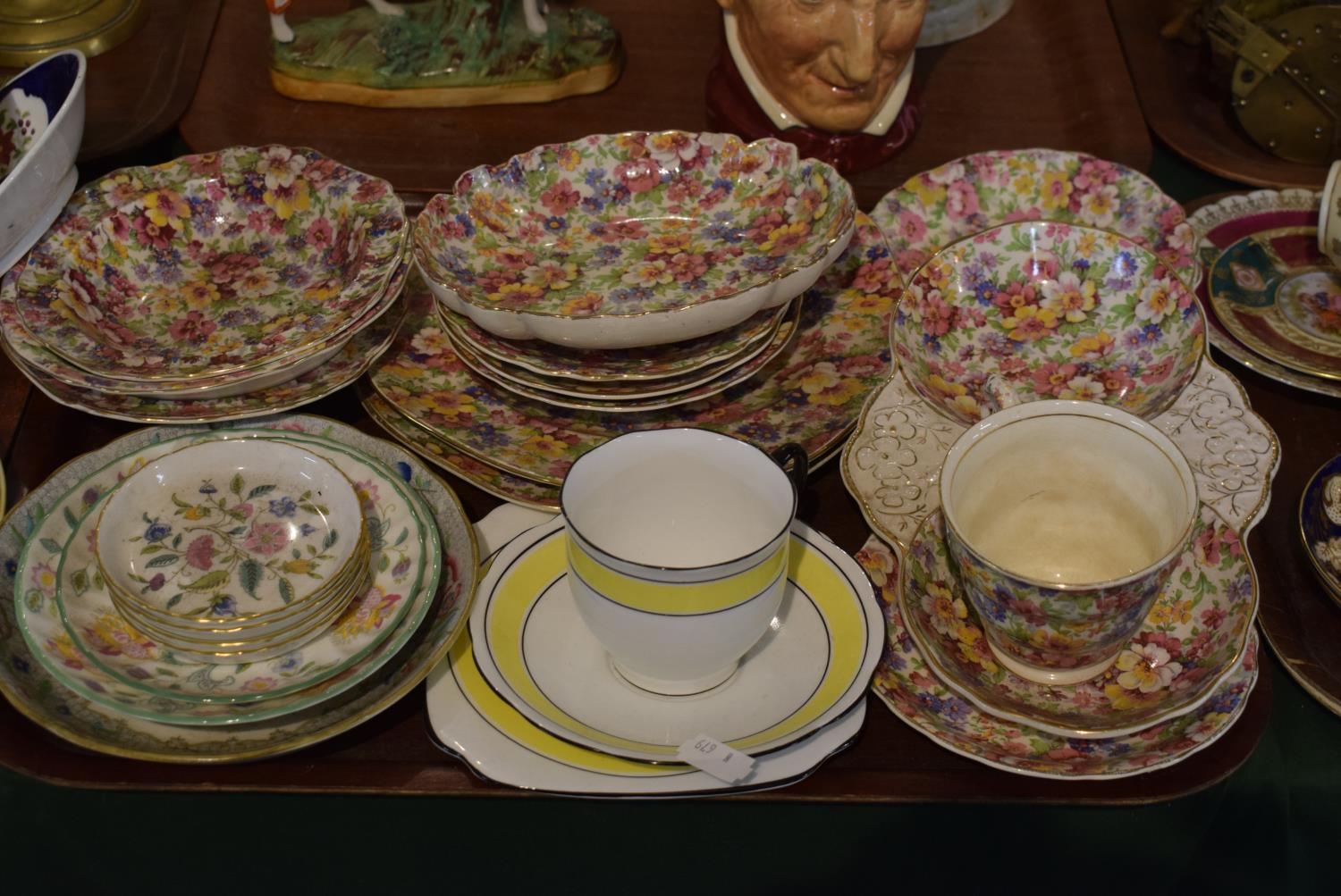 Lot 178 - A Tray Containing Various James Kent Chintz Ware, Minton Pin Dishes etc