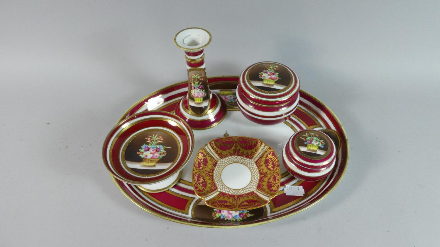 Lot 247 - A Noritake Dressing Table Set and a Small Dish