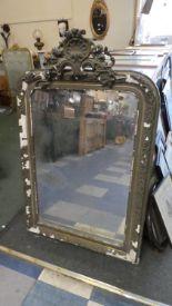 Lot 314 - A 19th Century Gilt Framed Pier Mirror In Need of Substantial Restoration, 118cm High