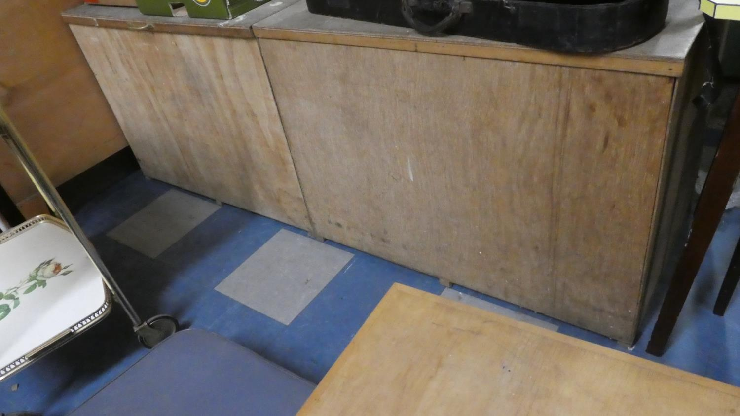 Lot 470 - Two Plywood Storage Boxes Each 91cm Long