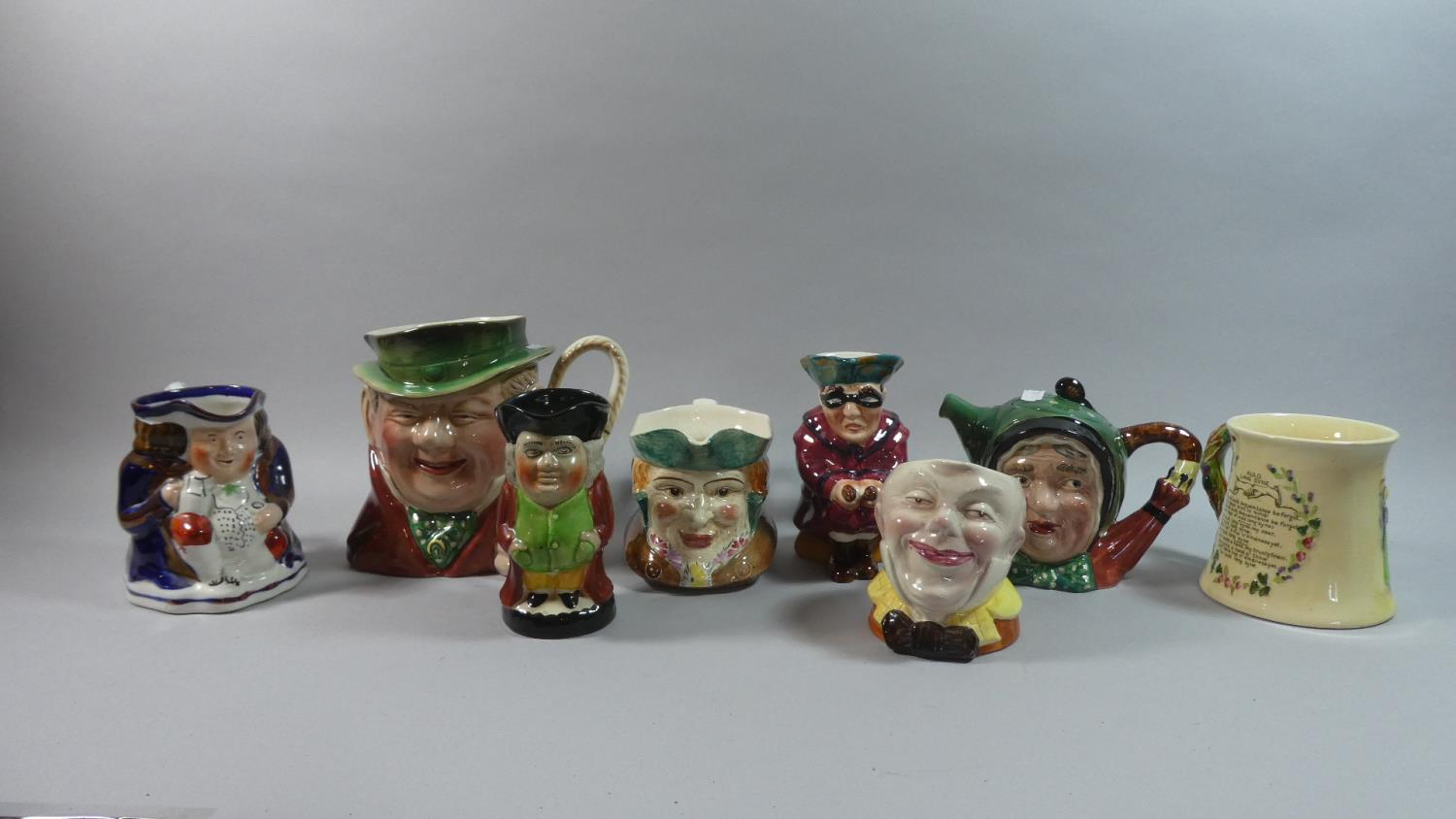 Lot 312 - A Collection of Beswick and Other Character Jugs, Musical Tankard, Beswick Teapot etc