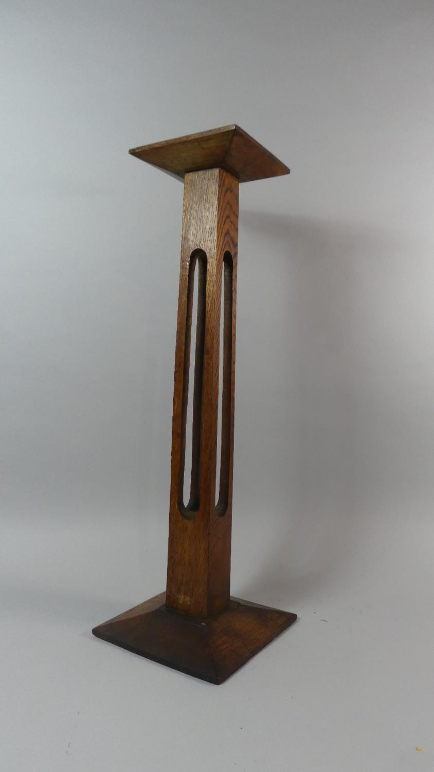 Lot 21 - An Early 20th Century Arts and Craft Oak Shop Display Stand. 61cm High