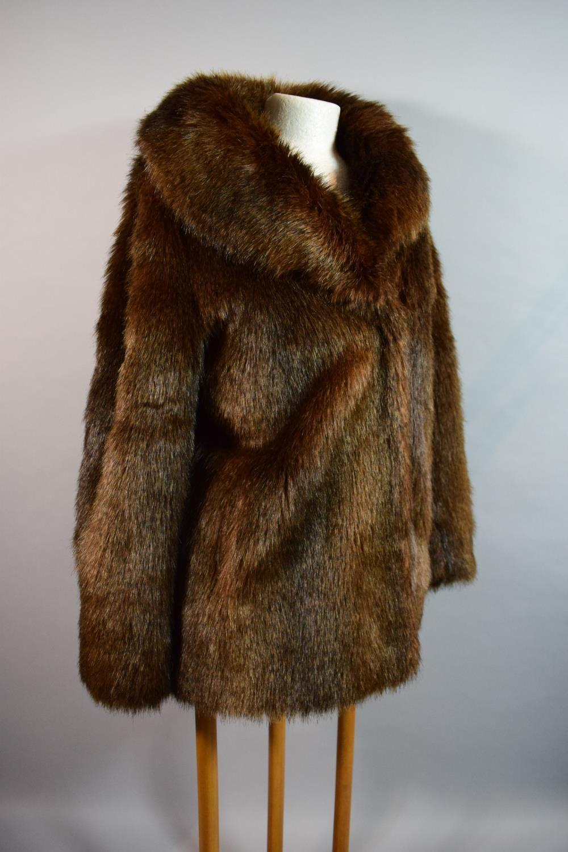 Lot 263 - A Ladies Faux Fur Jacket by Ruby & Ed, Size 10-12