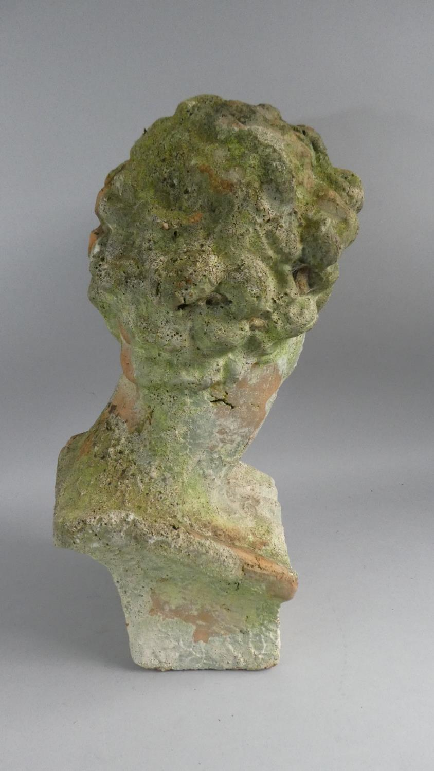 Lot 37 - A Weathered Terracotta Bust of Michelangelo's David , 50cm High