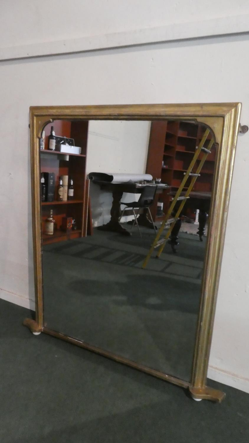 Lot 441 - A Gilt Framed Overmantle Mirror, 95x119cms