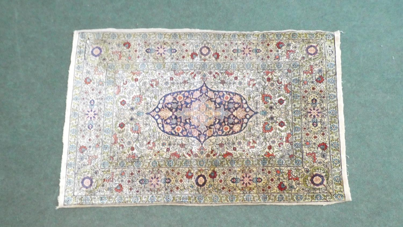 Lot 183 - A Very Fine Silk Hereke Rug. 93x60