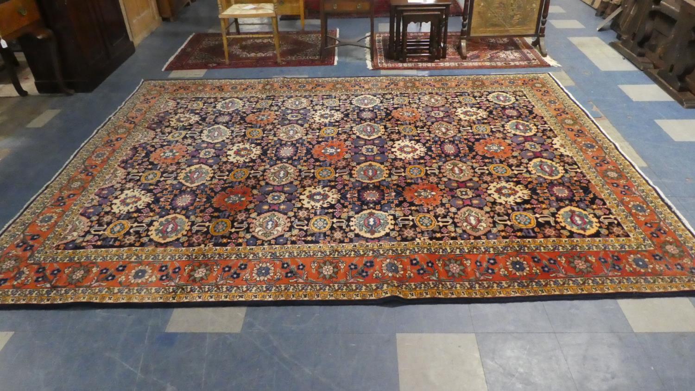 Lot 406 - A Fine Tabriz Carpet. 335x249cm