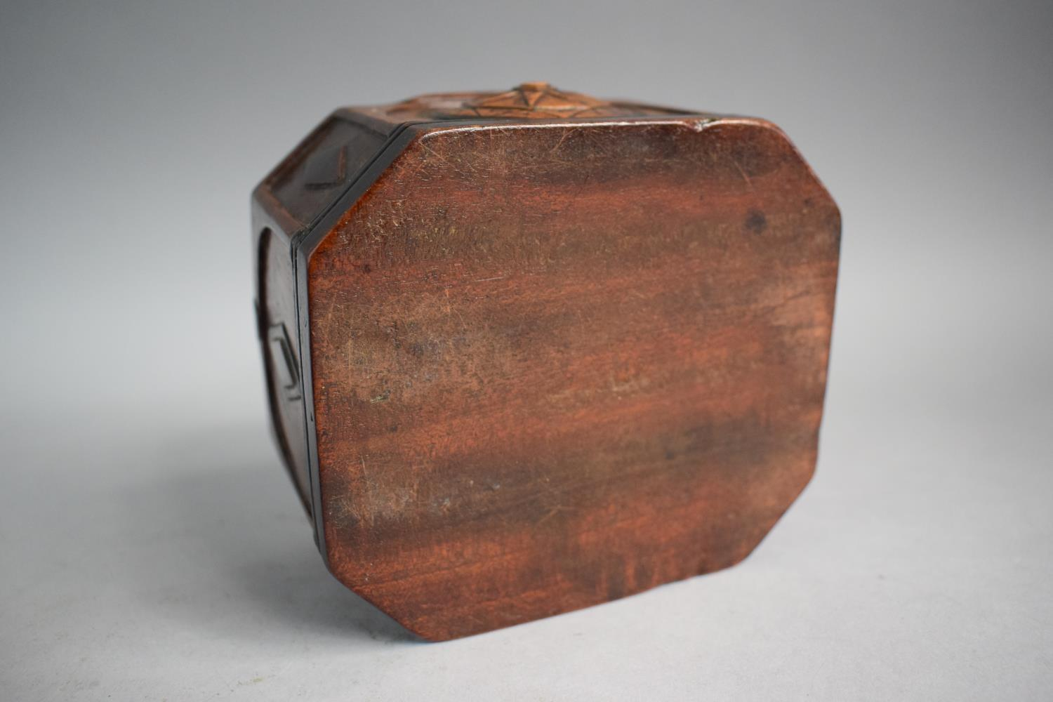 Lot 32 - A 19th Continental Rectangular Tobacco Box with Canted Corners and Starburst and Lozenge