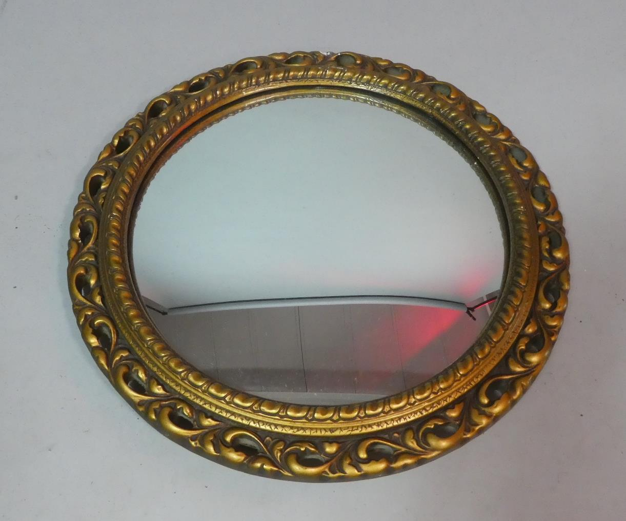 Lot 449 - Circular Pierced Gilt Frame Wall Mirror, 45cm Diameter