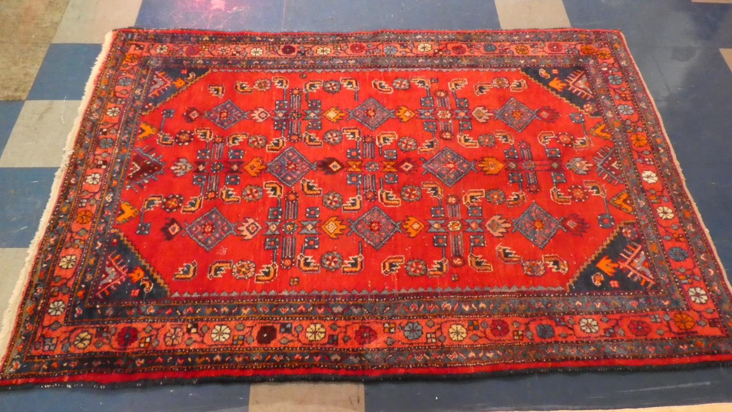Lot 403 - A Persian Hand Made Malayer Rug. 200x135cms