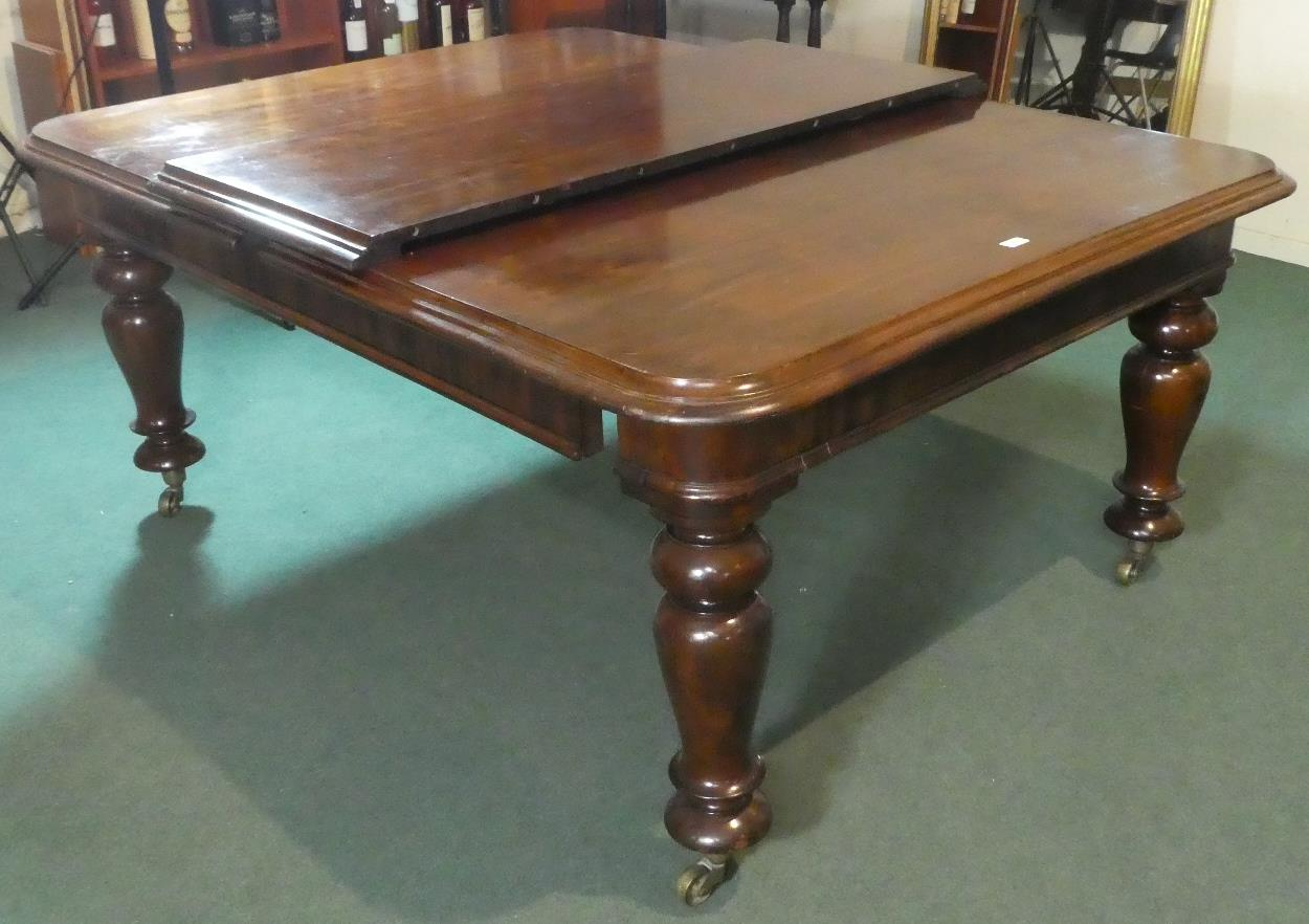 Lot 491 - A Mid Victorian Mahogany Extending Dining Table with One Extra Leaf, Formerly Wind Out but Mechanism