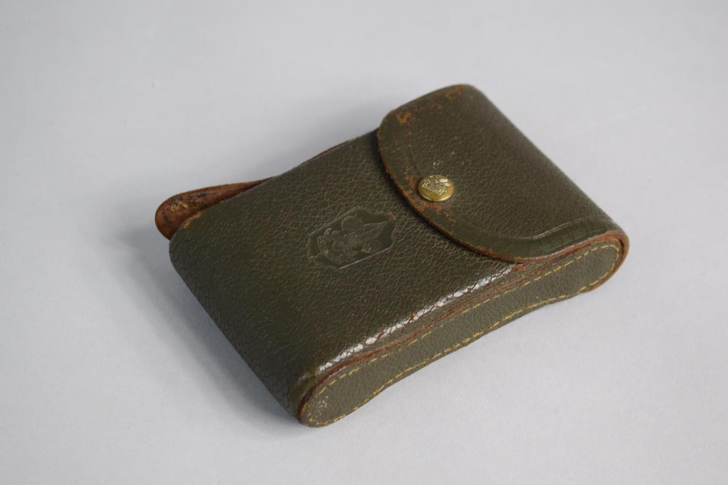 Lot 8 - A Vintage Leather Cased Boy Scout Bellows Camera by Kodak