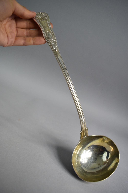 Lot 216 - A Georgian Silver Kings Pattern Ladle, London 1822, 34cm Long