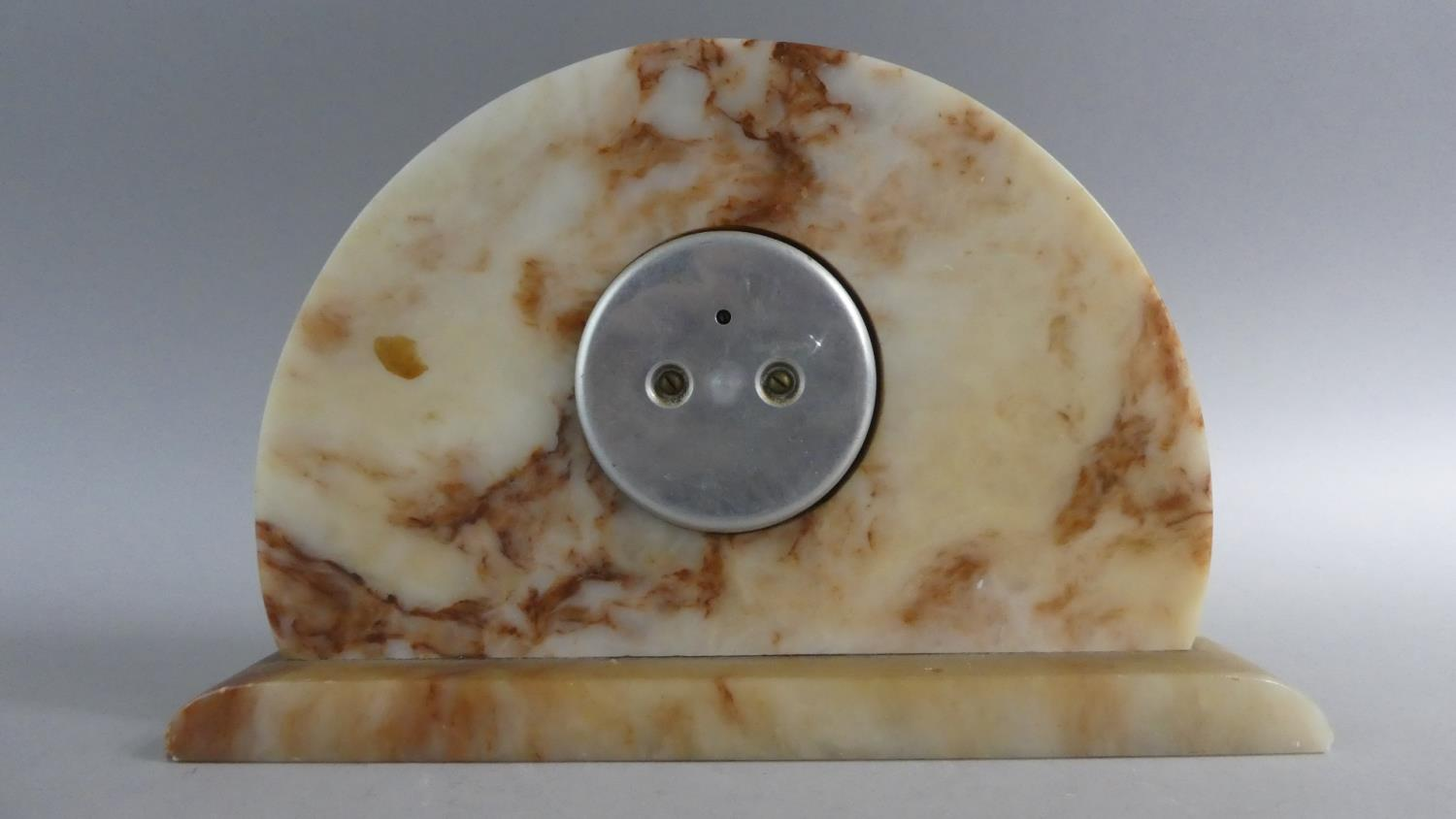 Lot 106 - An Art Deco Marble Aneroid Barometer. 29cms Wide
