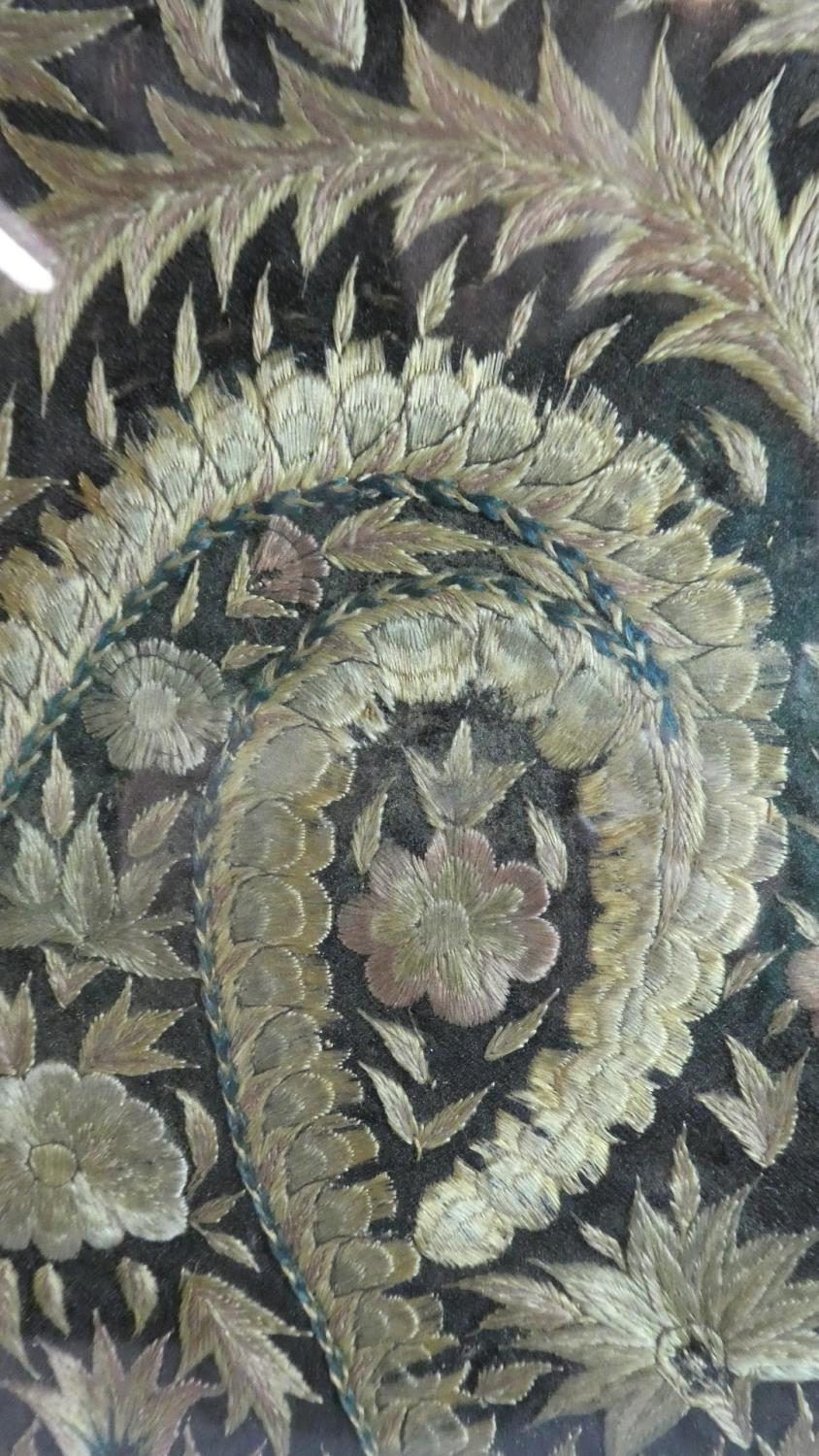 Lot 85 - A 19th Century Silk Embroidery Set in Later Fire Screen Frame, 47cm x 46cm