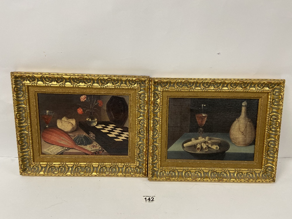 Lot 142 - TWO TRADITIONAL PRINTS IN GILT FRAMES, 38CM WIDE