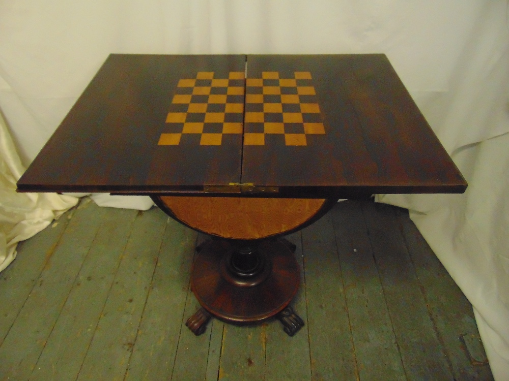 Lot 1 - A Victorian rectangular mahogany games and work table, the hinged cover revealing inlaid chess