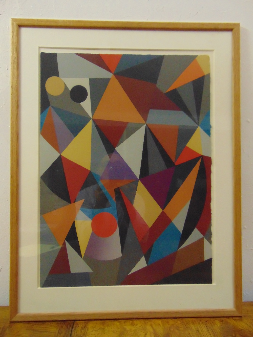 Lot 32 - C. Goran Karlsson framed and glazed limited edition screen print abstract 89/200, signed bottom