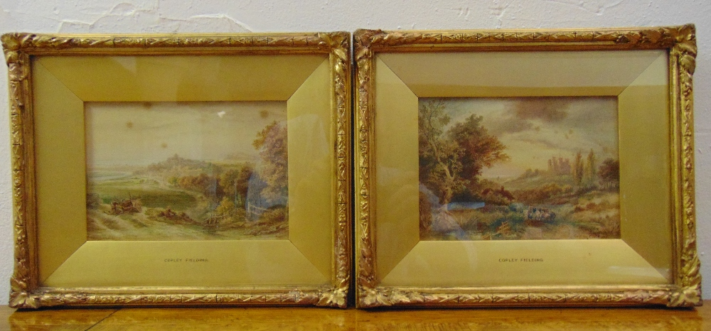 Lot 49 - Anthony Vandye Copley Fielding two framed and glazed watercolours titled Rye Sussex and