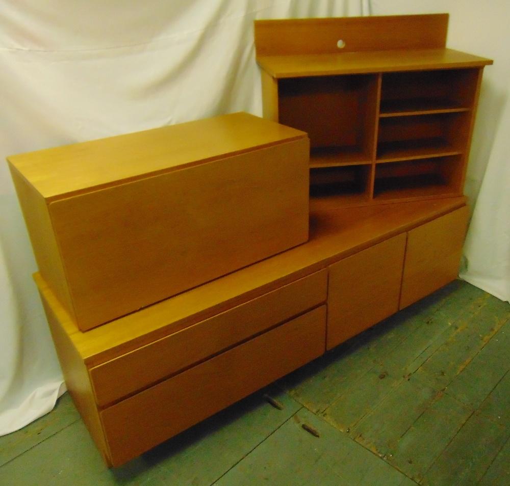 Lot 10 - Tapley 33 teak wall unit and shelves circa 1970