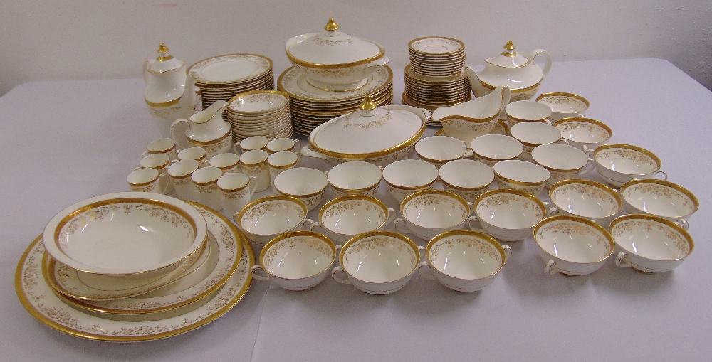 Lot 102 - Royal Doulton Belmont dinner and tea service to include plates, bowls, cups, saucers, a teapot, a