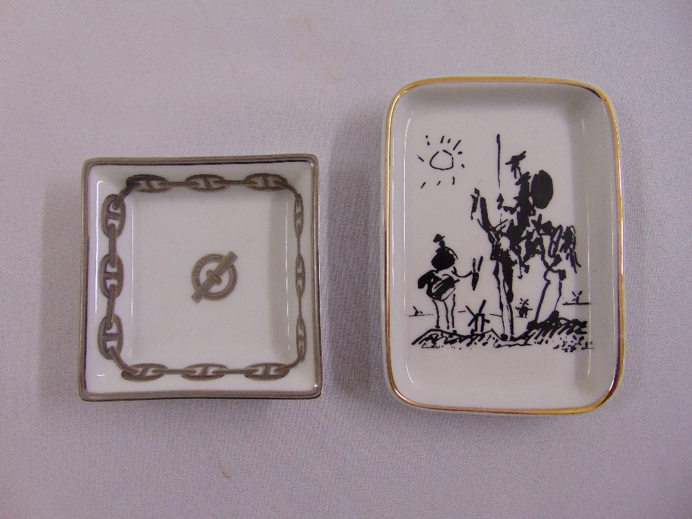 Lot 120 - Two porcelain pin trays one by Hermes the other a Picasso reproduction