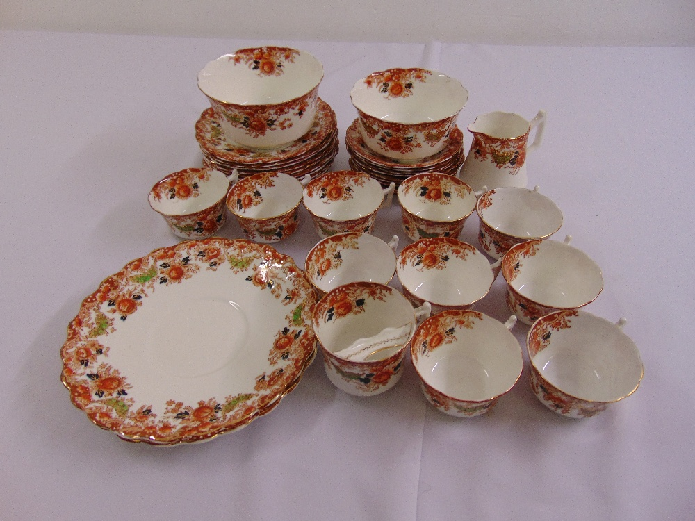 Lot 109 - A Victorian porcelain teaset to include cups, saucers, plates and bowls (32)