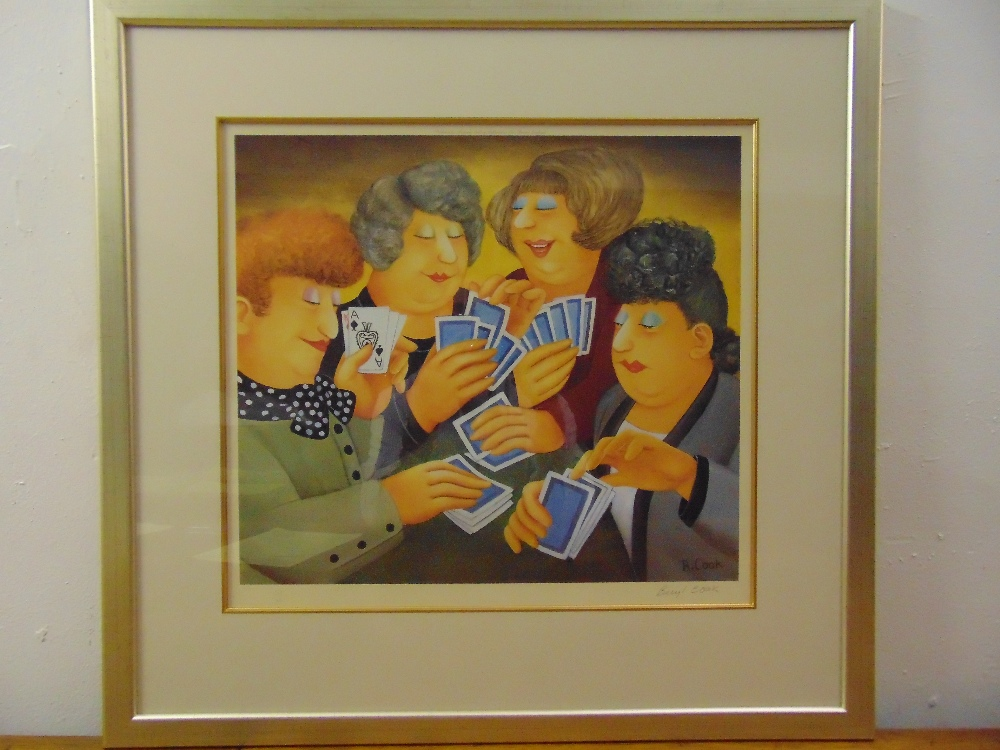 Lot 50 - Beryl Cook framed and glazed polychromatic lithographic print titled A Full House, 567/650 to