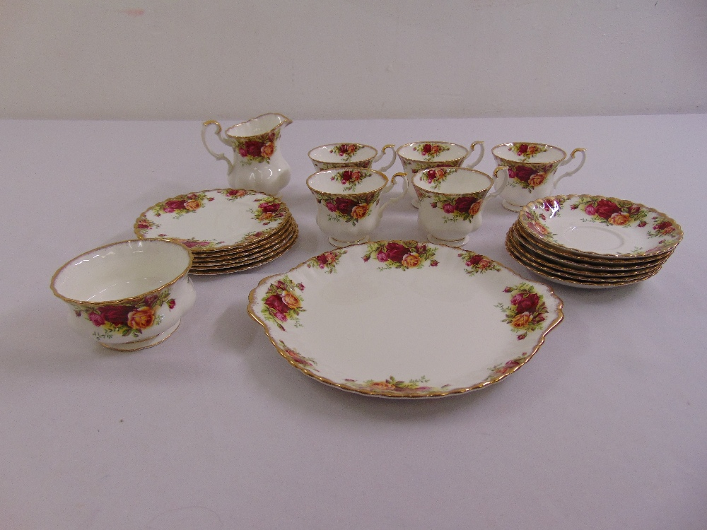 Lot 108 - Royal Albert Old Country Roses teaset to include plates, cups, saucers, milk jug and sugar bowl (