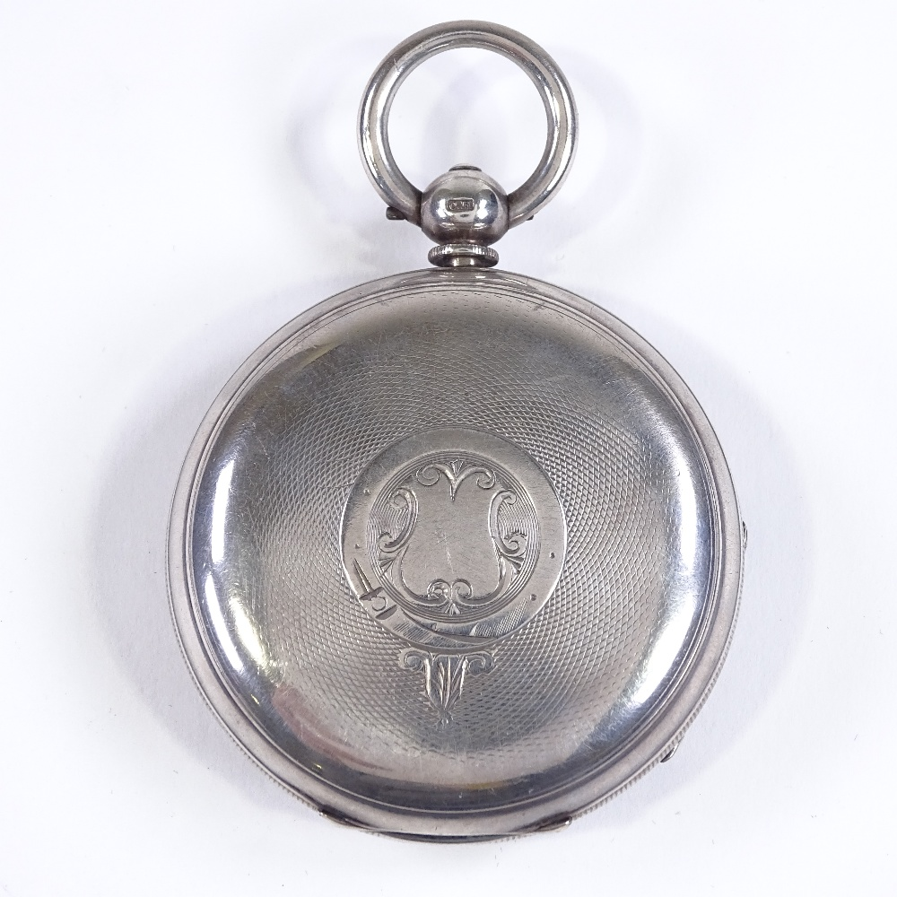 Lot 467 - A 19th century silver-cased Coastguard open-face key-wind lever pocket watch, by JN Masters of