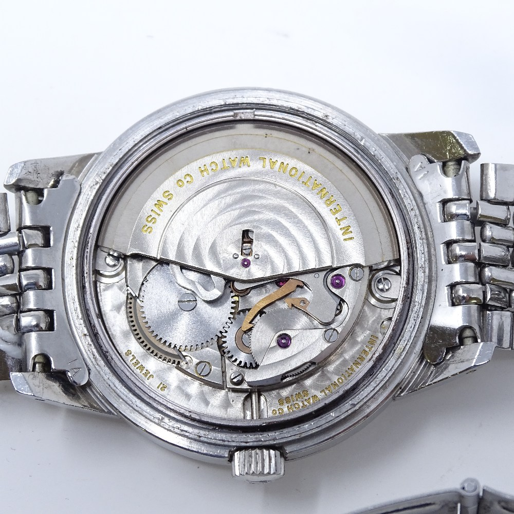Lot 475 - INTERNATIONAL WATCH CO. (IWC) - A stainless steel Ingenieur automatic wristwatch, 21 jewel