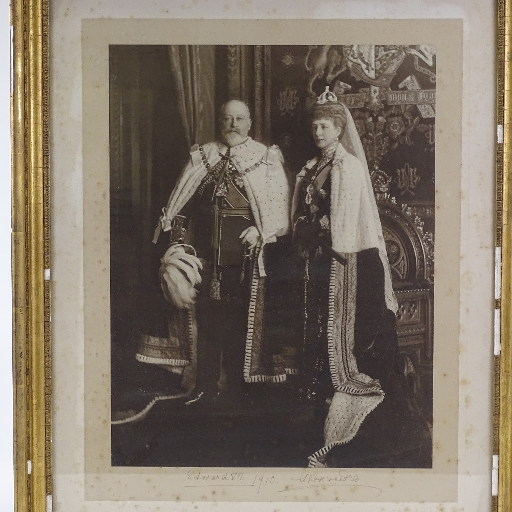 Lot 2 - Edward VII and Queen Alexandra, original photograph signed in ink by the King and Queen, original