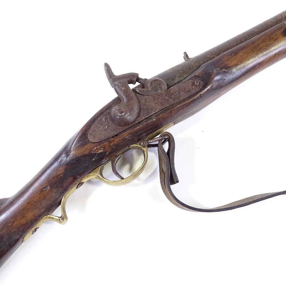 Lot 31 - An Antique percussion rifle