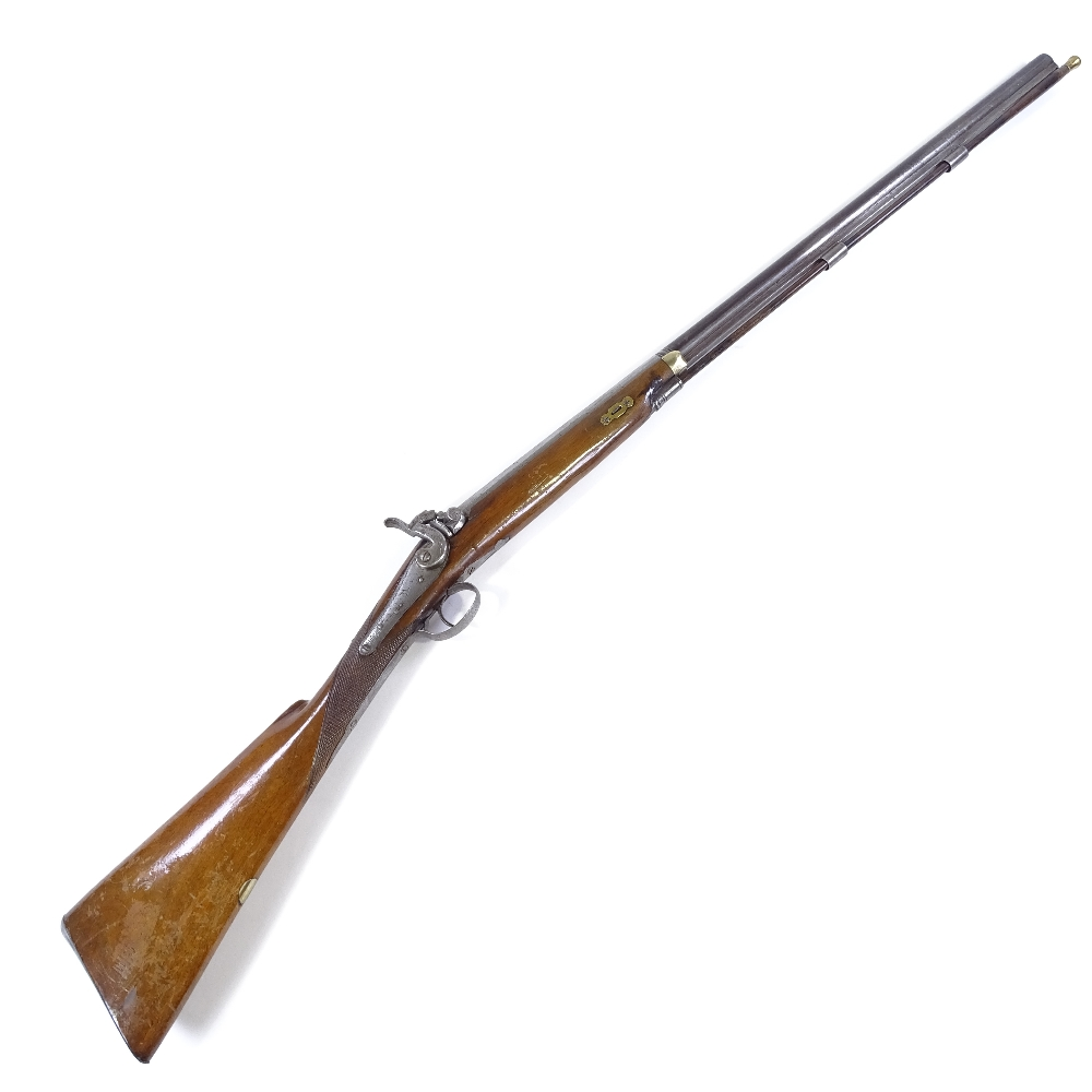 Lot 30 - An Antique percussion rifle