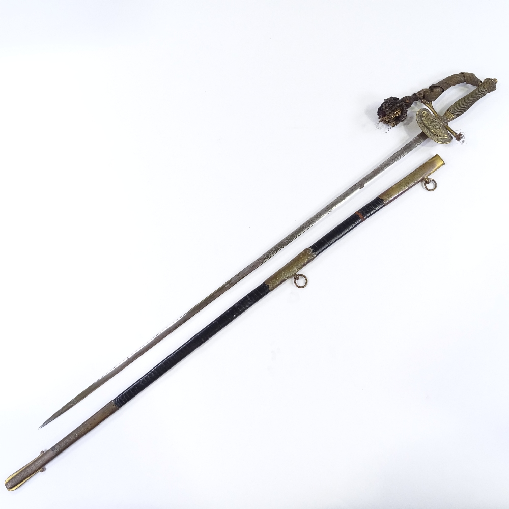 Lot 9 - A Victorian dress sword with etched blade, signed Scott Son & Claxton of New Bond Street London,